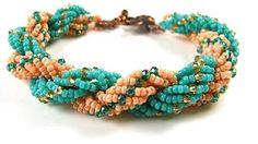 Double Spiral Bracelet Tutorial Ice Princess - Beaded Bracelet Tutorial - YouTube