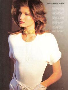 Vogue US 1987 Photo Arthur Elgort Model Stephanie Seymour