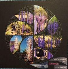Chuhuly in the garden.  Lea France Templates. Pinwheel design. Linda Gallacher.