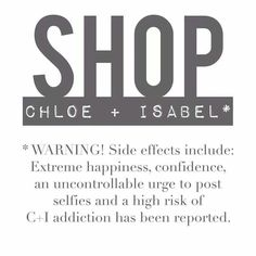 Warning: Chloe+Isabel is extremely addictive! http://www.chloeandisabel.com/boutique/jessicahoskinson