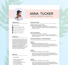 Modern Resume Template / CV Template Professional and Creative Resume