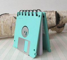 floppy disk notebook  #DIY #retro