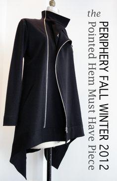 Periphery Fall 2012 Pointed Hem Zip Jacket