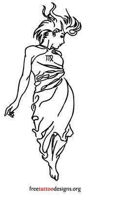 Virgo woman tattoo design