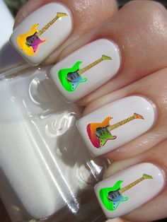 Guitar Nail Decals by PineGalaxy on Etsy, $4.50
