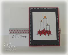 Handmade Christmas card by Amber Hight using the Light My World set from Verve. #vervestamps