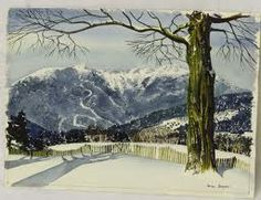 Mt. Mansfield, Stowe, Vermont - watercolor by Walton Blodgett