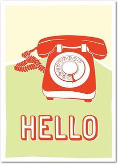 Retro Hello. | Send a personalized card from Treat.com  #retro #vintage #phone
