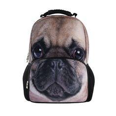 Women Men 3D Animal Zoo Print Daypack Backpack Rucksack Travel Sports SchoolBag #BIGCAR #Backpack