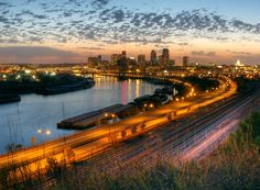 Downtown St Paul, MN  ~ Skyline over the Mississippi River ~ From the Bluffs ~ Mounds Park Blvd. ~ Where I grew up!