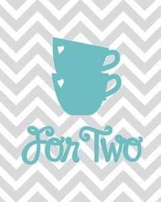 Items similar to Kitchen Art Chevron Seablue Grey Silhouette Teapot and cups Printable Artwork on Etsy Diy Canvas, Canvas Art, Artwork For Home, Craft Stickers, Decoupage Vintage, Bohemian Art, Banners, Coffee Art, Kitchen Art
