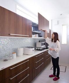 お気に入りの場所 Open Kitchen, Kitchen Pantry, Kitchen Dining, Kitchen Cabinets, Gloss Kitchen, Kitchen Ideas, Kitchen Collection, Kitchenette, Home Reno