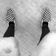 Checkered vans Size 6.5 men A little dirty but it makes them edgy. Worn Vans Shoes Sneakers
