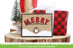 Toboggan together and gingham backdrops Homemade Christmas Cards, Christmas Cards To Make, Xmas Cards, Handmade Christmas, Holiday Cards, Christmas Diy, Christmas Wishes, Merry Christmas, Greeting Cards