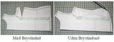 Sådan fjerner du brystindsnit fra mønstret