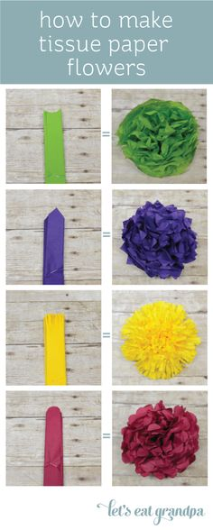 How to Make Paper Flowers Tutorial | Let's Eat Grandpa In white, to be strung up in the trees for the Engagement Party.