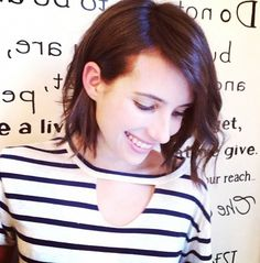 Emma Roberts recently embraced her darker side with a change of hair color // #CelebrityStyle
