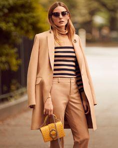 Banana Republic Melton Wool Buttoned Top Coat, Merino Stripe Turtleneck and…