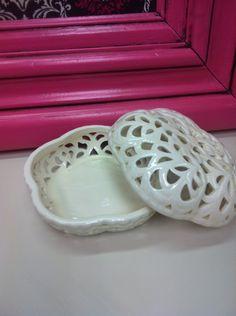 Vintage Ceramic Jewelry Box, Ring Dish, Trinket Box. $14.00, via Etsy.
