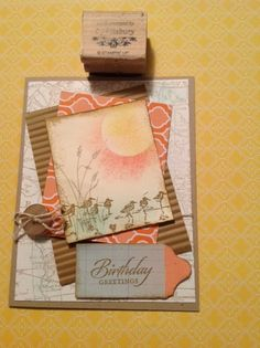 """Cardmaker unknown. Link goes only to a larger image. Uses stamps from """"Wetlands"""" by Stampin' Up."""