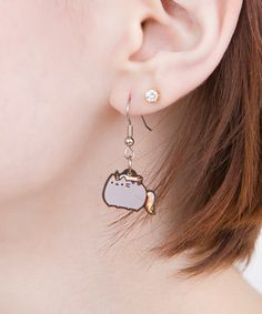 Shop for Pusheen plush, clothing, and more- including products EXCLUSIVE to Pusheen Shop! Cute Earrings, Pendant Earrings, Gold Hoop Earrings, Beaded Earrings, Gato Pusheen, Pusheen Love, Pusheen Shop, Cat Jewelry, Fine Jewelry