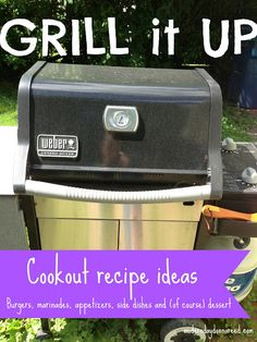 A compilation of Cookout Menus, Recipes and Ideas. Includes: Grilled Pineapple Teriyaki Burgers, Mexican Brownies, Tortellini Salad, Grilled Asparagus, Grilled Pizza, London Broil Marinade, and MORE! #Cookout #grill #Recipes