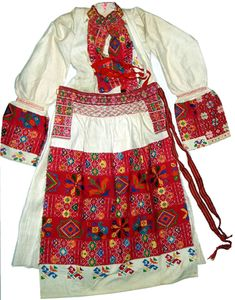 Croatian woman's folk costume - all the embroidery!!  These garments just blow me away.....