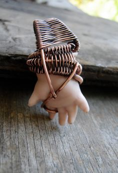 Copper Wrapped // Porcelain Doll Hand // Wire by Magickwrapper, $54.00