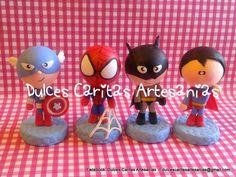capitan america hombre araña batman superman porcelana fria