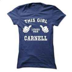 This girl loves her CARNELL - design a shirt #crewneck sweatshirts #pink hoodie
