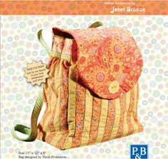 Backpack Pattern  .. this is a smaller backpack ... perfect for a smaller child or a Mom on the go!