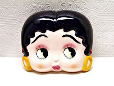 Betty Boop Mask Wall Decor Ceramic 8 inches plus by ozarksfinds   https://www.etsy.com/listing/112485194/betty-boop-mask-wall-decor-ceramic-8?ref=sr_gallery_24_search_query=ozarksfinds_view_type=gallery_ship_to=US_search_type=all