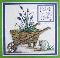 Wheelbarrow Card_Stamps by Judith