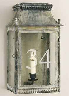 Ledbury Wall Lantern - Product WL 28: Charles Edwards Note finish on this wall lantern.