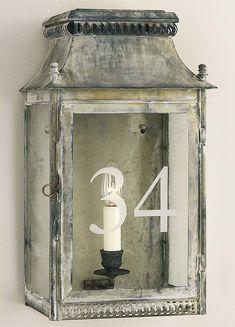 Ledbury Wall Lantern - Product WL 28: Charles Edwards Note finish on this wall lantern.