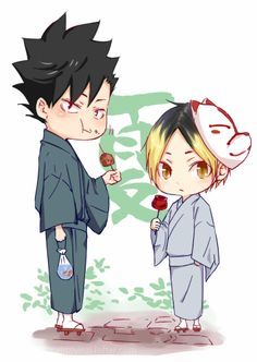 Kenma and Kuroo