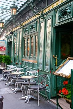 FRANCE, Paris: restaurant art nouveau just behind le Cafe de Flore in St Germain - I'm missing all this. Art Nouveau, Art Deco, Paris Travel, France Travel, Travel Europe, The Places Youll Go, Places To Visit, Restaurant Paris, Restaurant Design