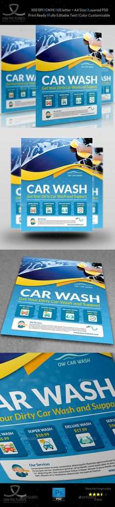 Car Wash Services Flyer Templates