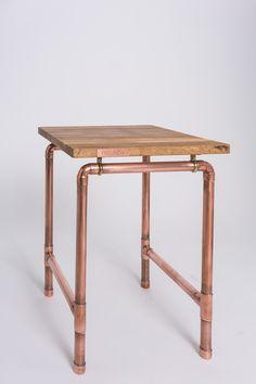 Stool, Copper, Oak, Furniture, Industrial, FREUND+KUPFERSTECHER