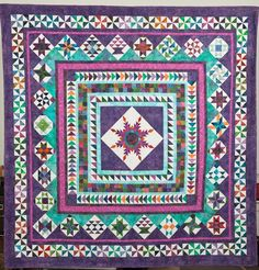 Pattern by Sue Garman, Washington Medallion. Quilted by Pamela Joy Spencer Dransfeldt. Featured in book 500 Traditional Quilts. Sampler Quilts, Star Quilts, Scrappy Quilts, Quilt Blocks, Batik Quilts, Round Robin, Flying Geese Quilt, Quilt Modernen, Cute Quilts