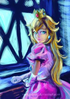 .:Princess Peach portrait:. by CarlyPandy on DeviantArt