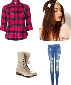 """swaged out cow girl"" by nerdswag-1 ❤ liked on Polyvore"