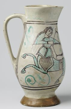 To refer to this object please use the following persistent URL:http://hdl.handle.net/10934/RM0001.COLLECT.242549 c.1400 Italie Orvieto rijksmuseum pichet majolique archaïque a01