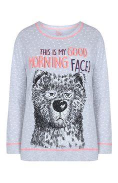 Primark - Top notte grigio Grumpy Bear