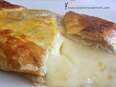 Hojaldre con queso brie. Una combinación excelente: hojaldre, queso brie fundido y mermelada de higos... mmm