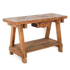 Rustic Antique French Carpenter's Work Bench FM-137 | Antique Warehouse