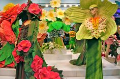 #AirNZWOW Flower dresses at the Royal Adelaide Show by Jenny Gillies