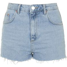 TOPSHOP MOTO Authentic Bleached Mom Shorts (430 NOK) ❤ liked on Polyvore