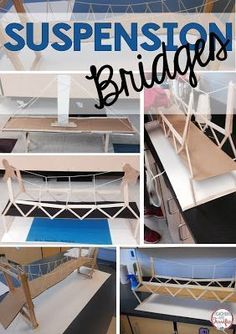 STEM Challenge: Learn about suspension bridges and then build one! This takes great care with determining the right size for the bridge supports and the placement of the suspending cable (string)!