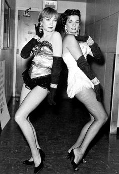 Shirley MacLaine and Jane Russell, c. late 1950s